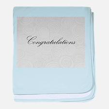Congratulation Swirls baby blanket