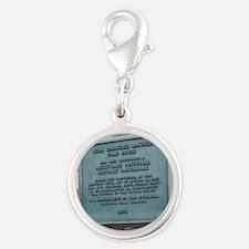 Silver Round Charm