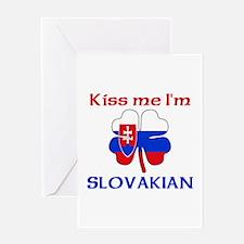 Kiss Me I'm Slovakian Greeting Card