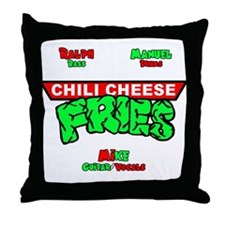 Chili Cheese Fries Throw Pillow