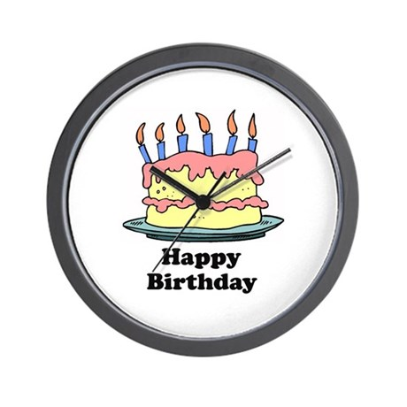 Happy Birthday - Cake Design Wall Clock