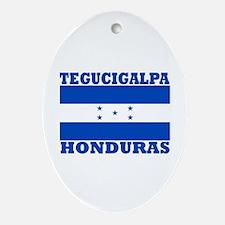 Tegucigalpa, Honduras Oval Ornament