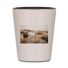 Island Horses in the Nature Shot Glass