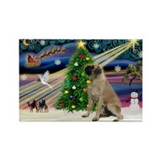XmasMagic/BullMastiff #7 Rectangle Magnet