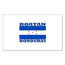 Roatan, Honduras Rectangle Decal