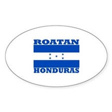 Roatan, Honduras Oval Decal