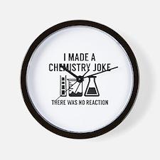 I Made A Chemistry Joke Wall Clock