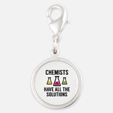 Chemists Have All The Solutions Silver Round Charm