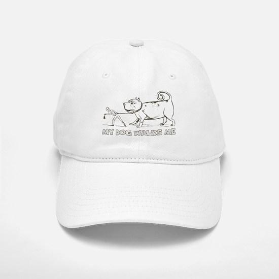 Funny Dog Walker Baseball Baseball Cap