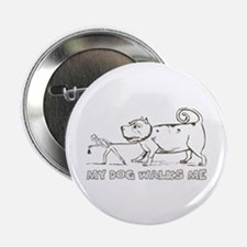 "Funny Dog Walker 2.25"" Button (10 pack)"