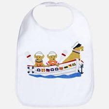 Nautical Retriever Preppy Dogs Bib