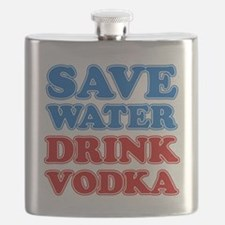 Save Water Drink Vodka Flask