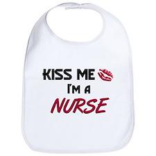 Kiss Me I'm a NURSE Bib