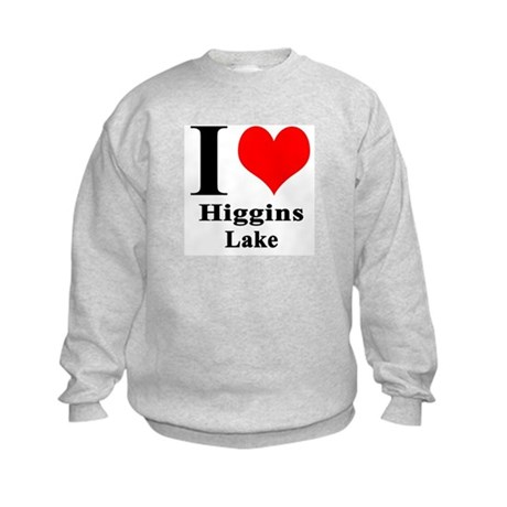 I heart Higgins Lake Kids Sweatshirt