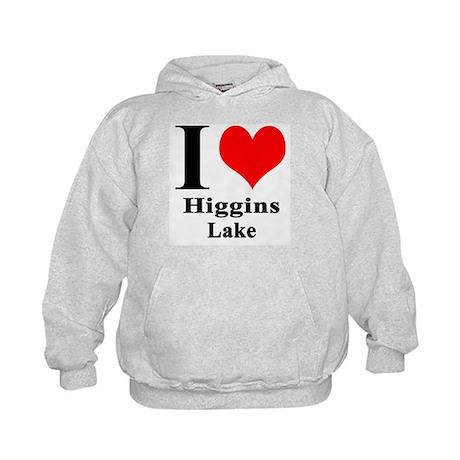 I heart Higgins Lake Kids Hoodie