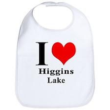 I heart Higgins Lake Bib