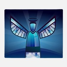 Abstract Angel Throw Blanket