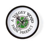 Tulgey Wood Farm Products Wall Clock