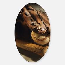 Unique Vintage baseball Sticker (Oval)