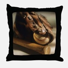 Unique Baseball glove Throw Pillow