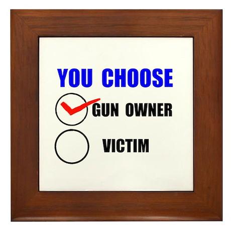 GUN RIGHTS Framed Tile