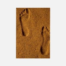 Cool Footprints sand Rectangle Magnet