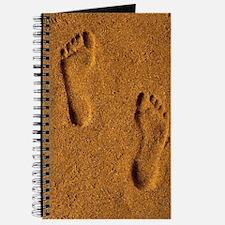 Cute Footprints sand Journal