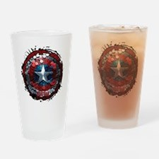 Captain America Hexagon Shield Drinking Glass