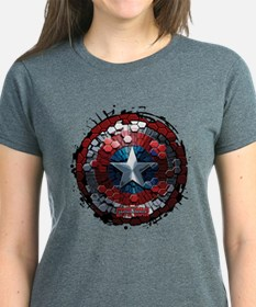Captain America Hexagon Shiel Tee