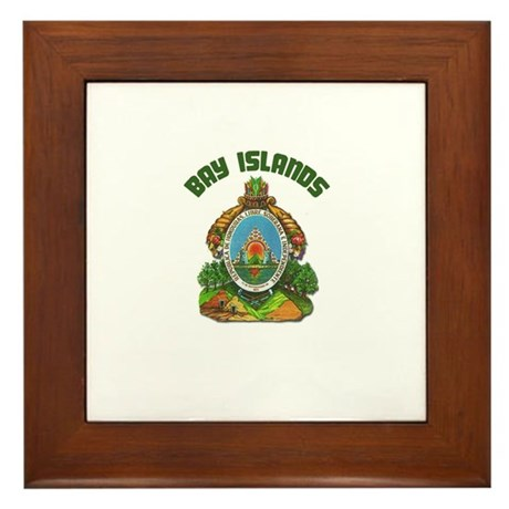 Bay Islands, Honduras Framed Tile