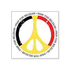 """Belgium Peace Square Sticker 3"""" x 3"""""""