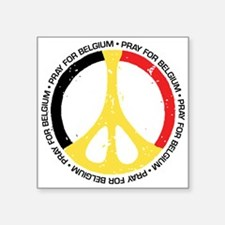 "Belgium Peace Square Sticker 3"" x 3"""