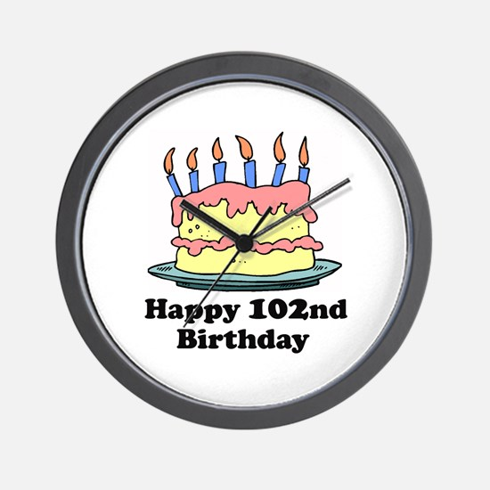 Happy 102nd Birthday Wall Clock