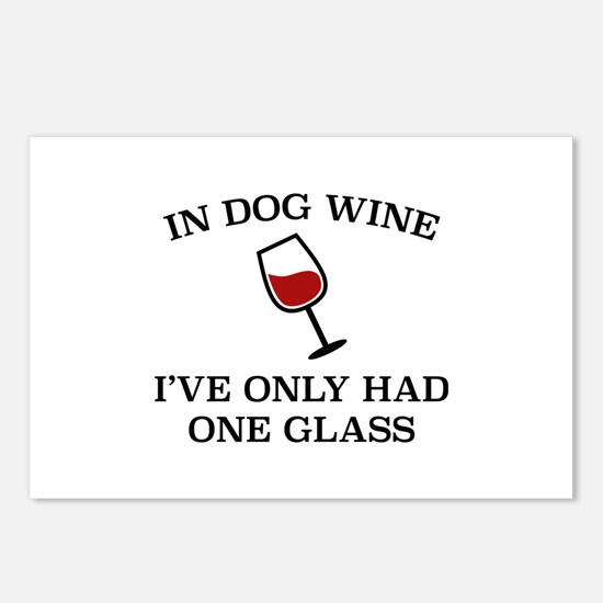 In Dog Wine Postcards (Package of 8)