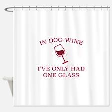 In Dog Wine Shower Curtain