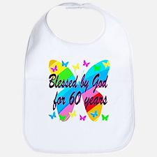 BLESSED 60TH Bib