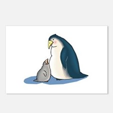 Mommy/Daddy & Baby Penguin Postcards (Package of 8