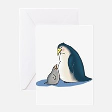 Mommy/Daddy & Baby Penguin Greeting Card