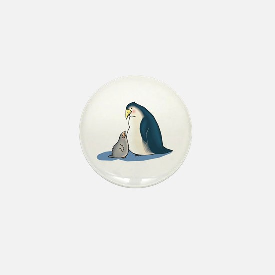 Mommy/Daddy & Baby Penguin Mini Button