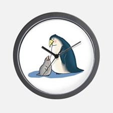 Mommy/Daddy & Baby Penguin Wall Clock