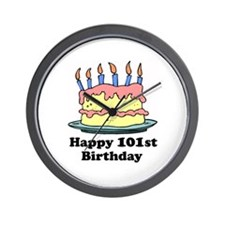 Happy 101st Birthday Wall Clock