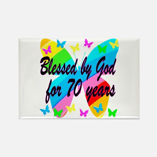 70TH BLESSING Rectangle Magnet