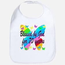 70TH BLESSING Bib