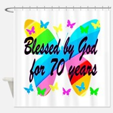 70TH BLESSING Shower Curtain