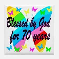 70TH BLESSING Tile Coaster