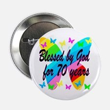 "70TH BLESSING 2.25"" Button"