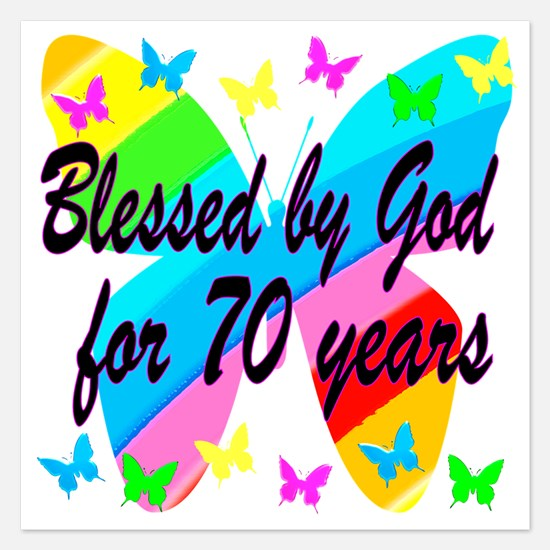 70TH BLESSING 5.25 x 5.25 Flat Cards
