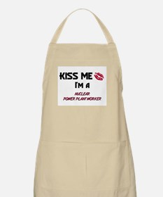 Kiss Me I'm a NUCLEAR POWER PLANT WORKER BBQ Apron