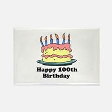 Happy 100th Birthday Rectangle Magnet