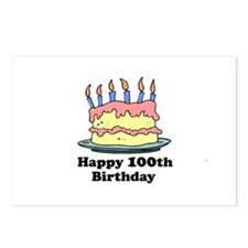 Happy 100th Birthday Postcards (Package of 8)